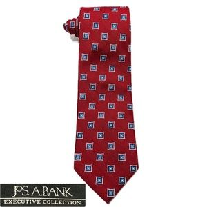 Jos. A. Bank Executive Burgundy Blue Necktie